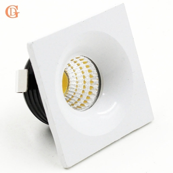 4 adet 3 W COB Mini Led Spot işık Mini Dim Led Sürücü Ile Downlight Led Kabine LED Downlights