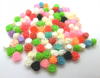 100 Mixed Resin Flatback Flower Embellishments Beads Craft Scrapbooking Jewelry Findings 11x11mm D2117