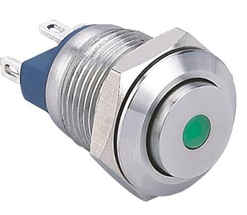 Işık ile ELEWIND 12mm metal push button anahtarı (PM121H-10D/J/G/12 V/S)