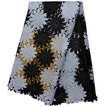 !black color african lace Tulle lace French net lace cord lace fabric nigerian for wedding dress