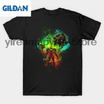 GILDAN pamuk O-Boyun baskılı T-shirt Bounty Hunter T-Shirt