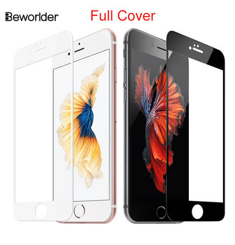 Beworlder Temperli Cam Apple iphone 6 Için iphone 6 S 6G 4.7 inç Kutu Tam Kapak Ekran Koruyucu Film iphone 6 s