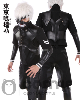 Custom Made Tokyo Ghoul Ikinci Sezon Kaneki Ken Battle Suit Kostüm Üniforma Anime Cosplay Kostüm