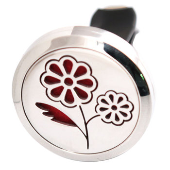 Beautiful Flower 30mm Diffuser 316 Stainless Steel Car Aroma Locket Essential Oil Car Diffuser Locket Free 10Pcs Felt Pads